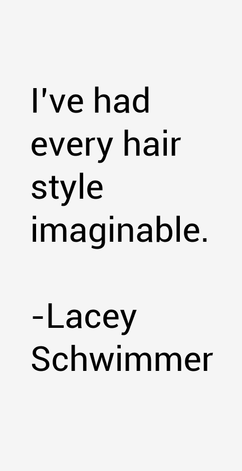 Lacey Schwimmer Quotes
