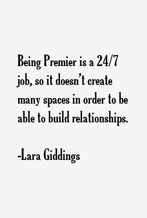Lara Giddings Quotes