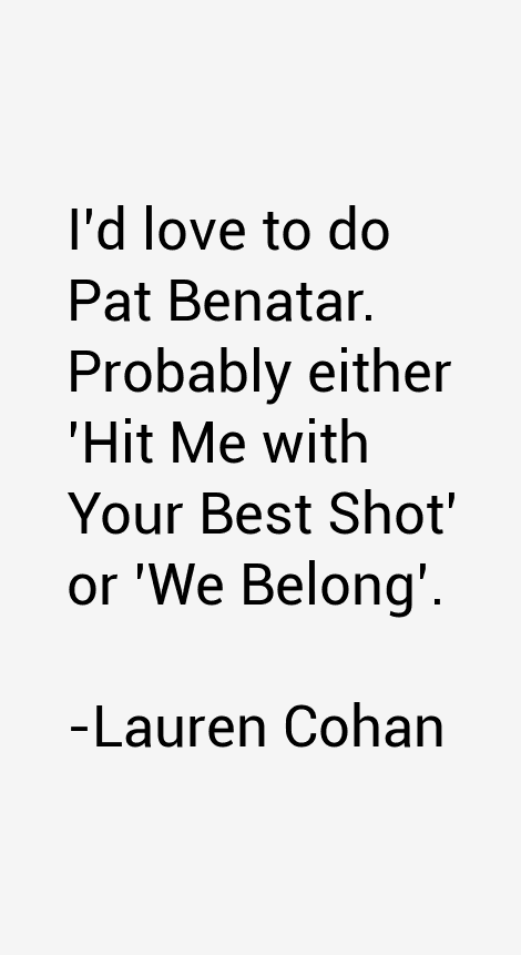 Lauren Cohan Quotes