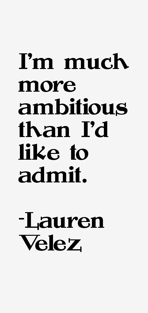 Lauren Velez Quotes