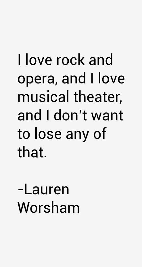 Lauren Worsham Quotes