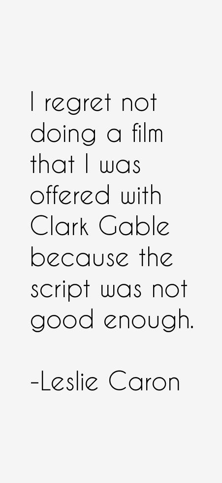 Leslie Caron Quotes
