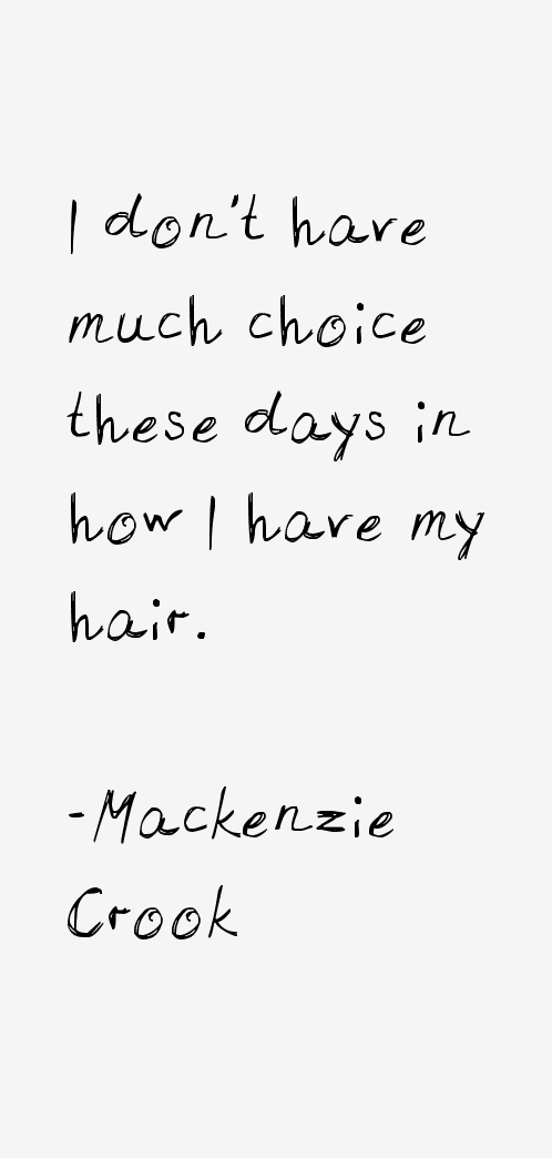 Mackenzie Crook Quotes