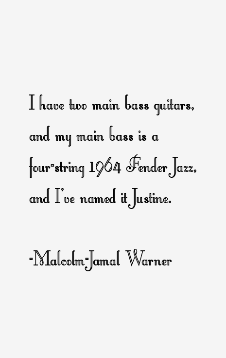 Malcolm-Jamal Warner Quotes