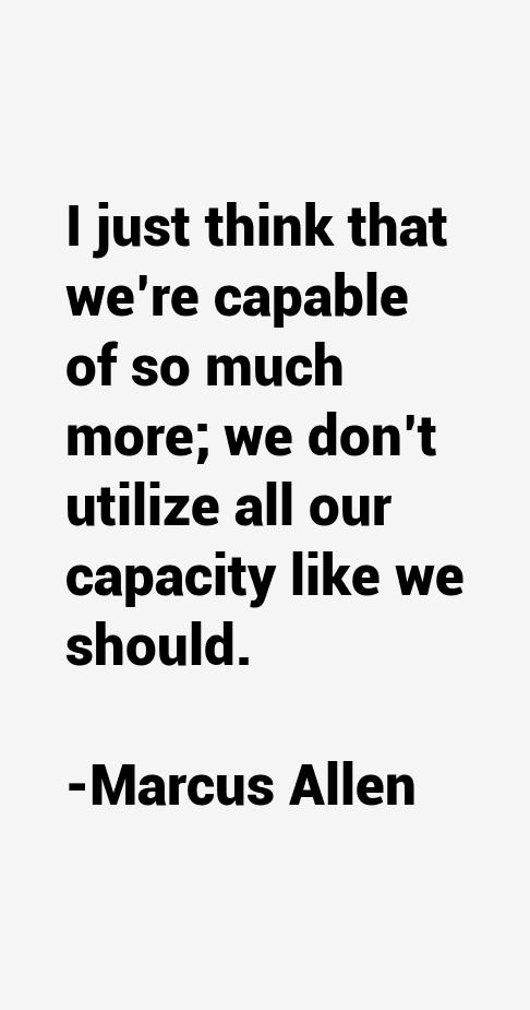 Marcus Allen Quotes