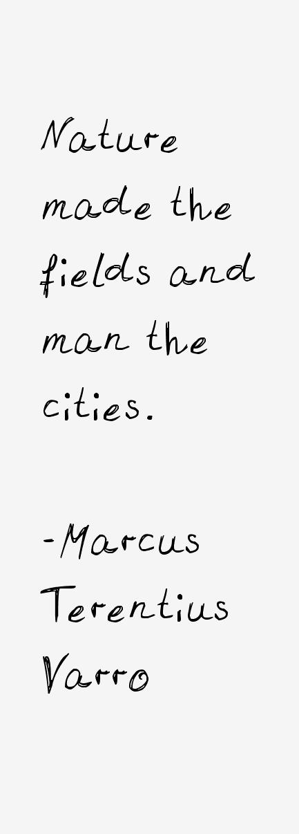 Marcus Terentius Varro Quotes