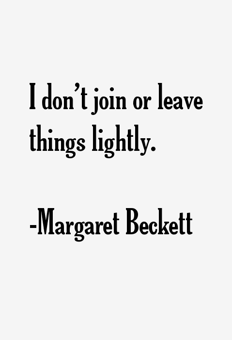 Margaret Beckett Quotes