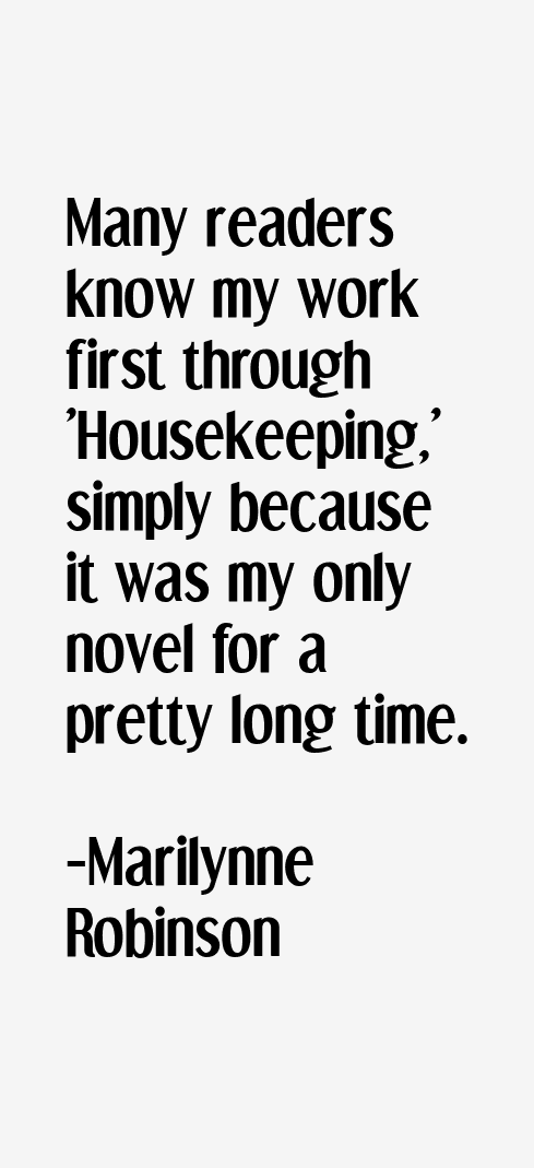 housekeeping by marilynne robinson an analysis essay