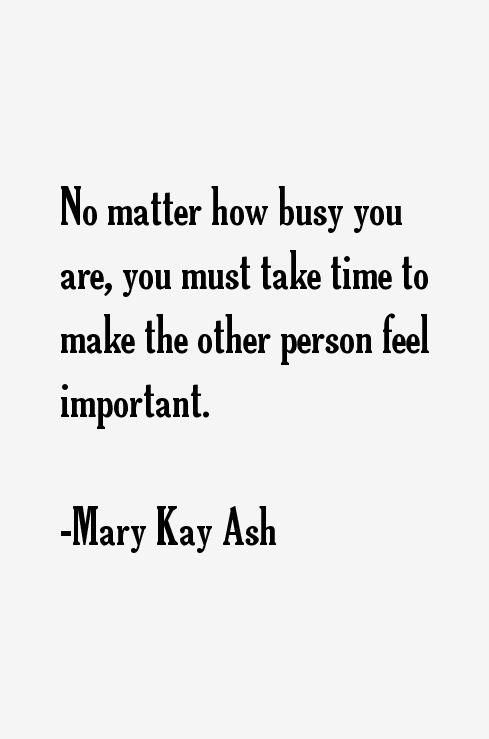 conclusion of mary kay ash Mary kay ash, su creadora, aparece en el prestigioso libro forbes, siendo la primera mujer que revolucionó el mundo de los negocios llegando a ser una de las más.