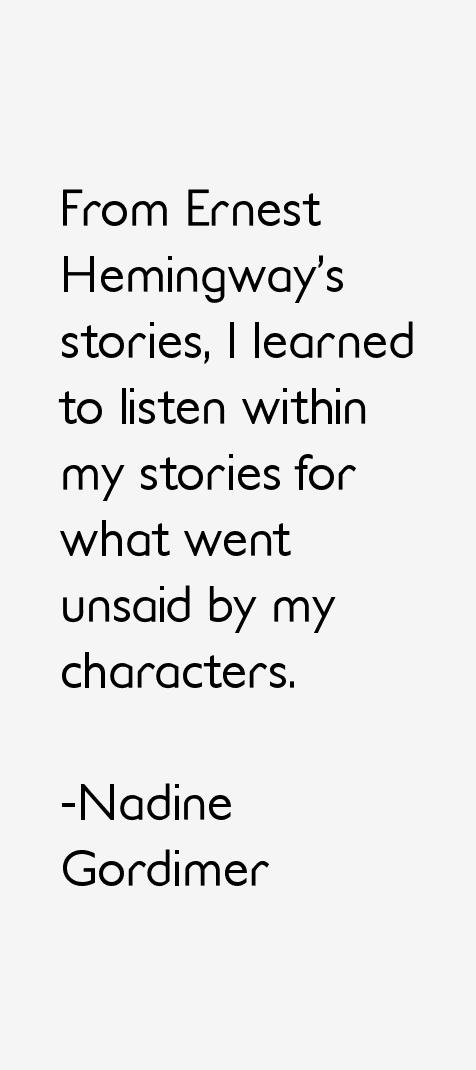 Nadine Gordimer Quotes