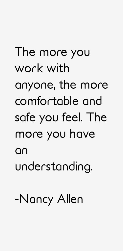 Nancy Allen Quotes