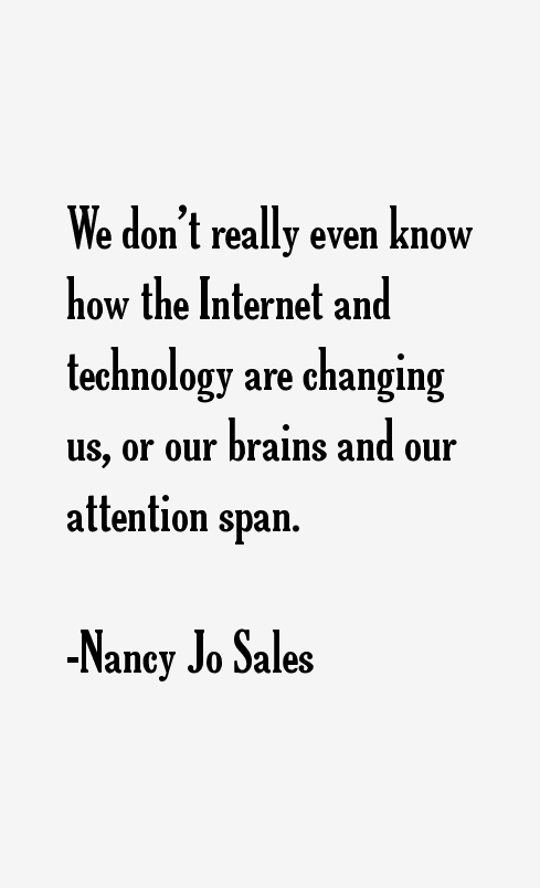 Nancy Jo Sales Quotes