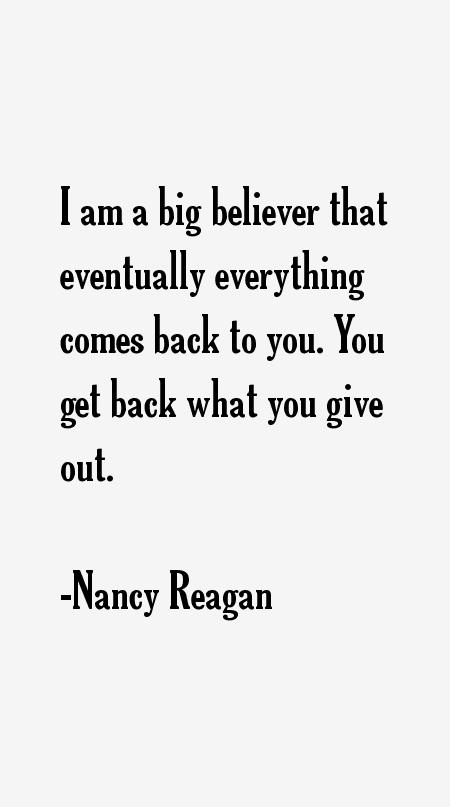 Nancy Reagan Quotes