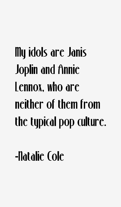 Natalie Cole Quotes