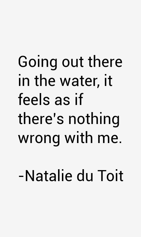 Natalie du Toit Quotes