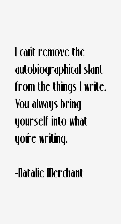 Natalie Merchant Quotes