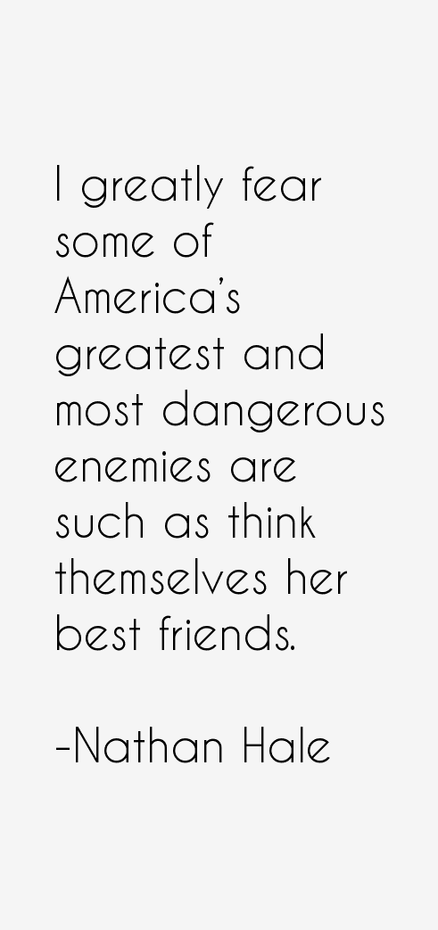 Nathan Hale Quotes