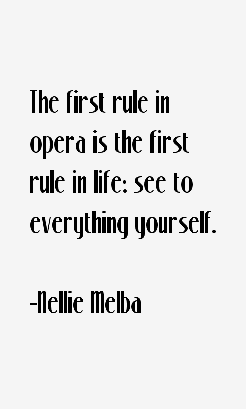 Nellie Melba Quotes