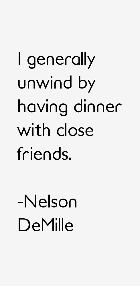 Nelson DeMille Quotes