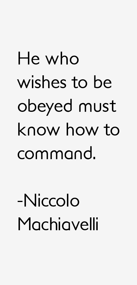 Niccolo Machiavelli Quotes