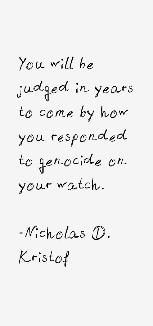 Nicholas D. Kristof Quotes