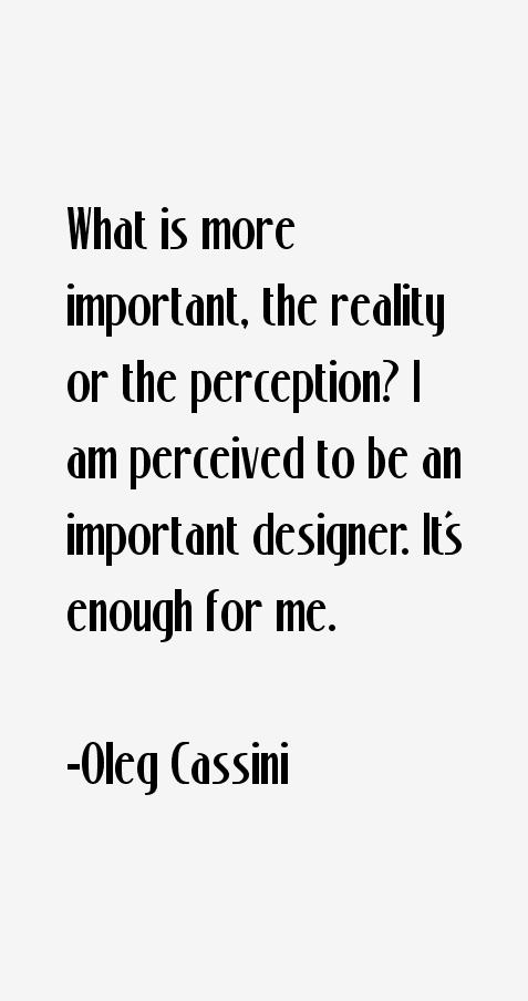 Oleg Cassini Quotes