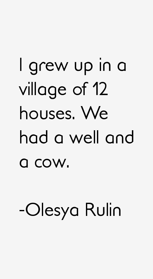 Olesya Rulin Quotes