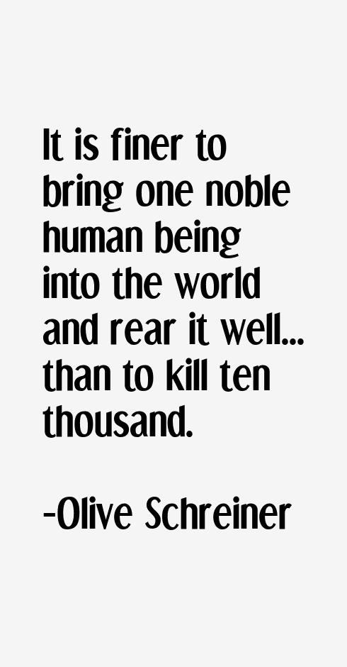 Olive Schreiner Quotes