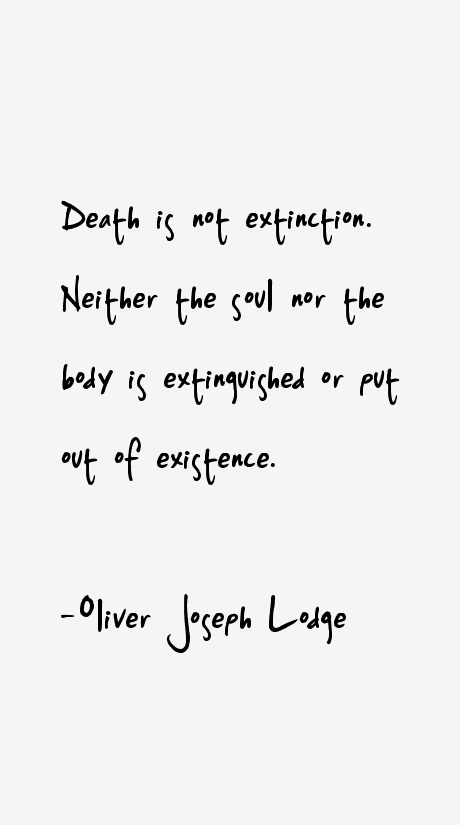 Oliver Joseph Lodge Quotes