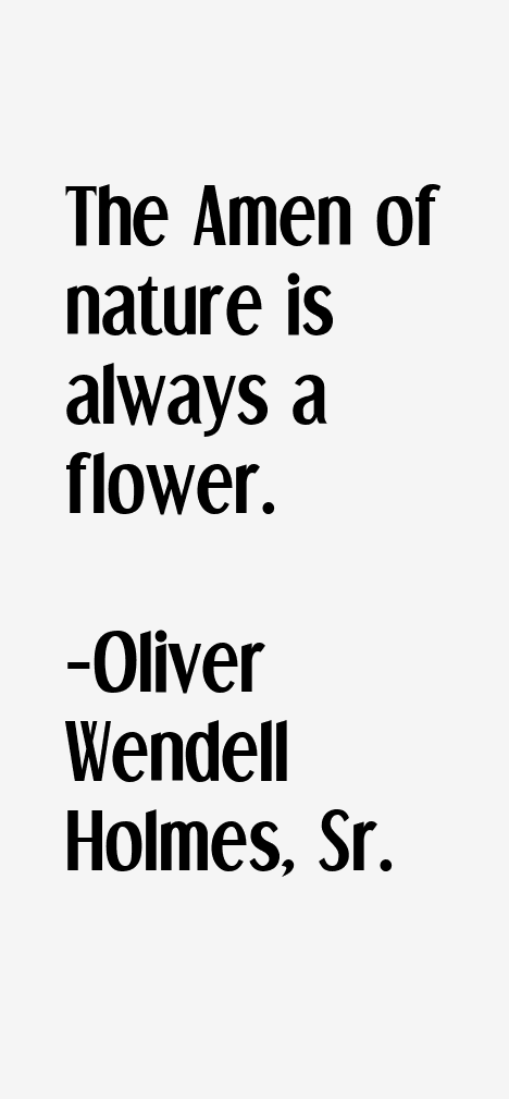 Oliver Wendell Holmes, Sr. Quotes