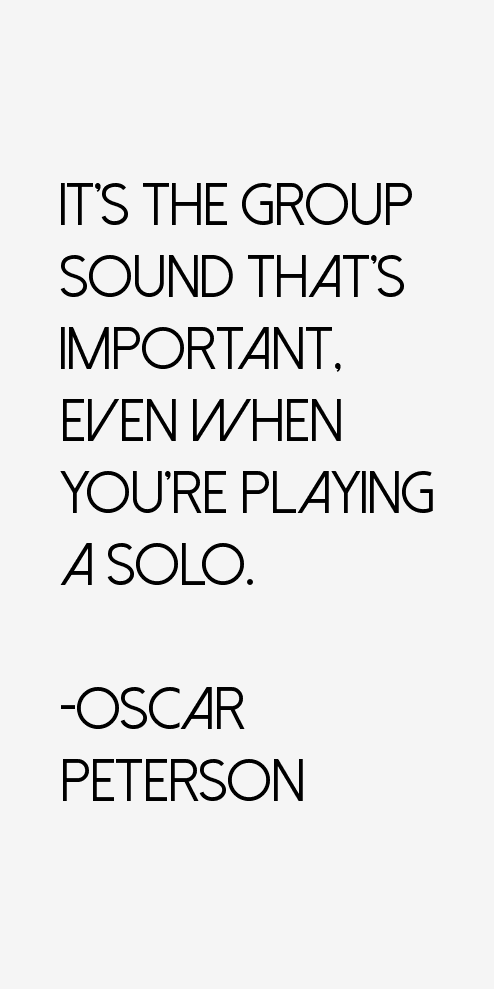 Oscar Peterson Quotes