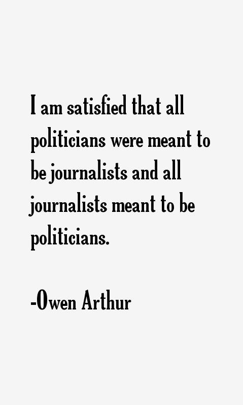 Owen Arthur Quotes