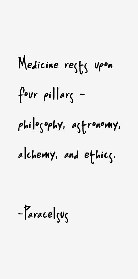 Paracelsus Quotes