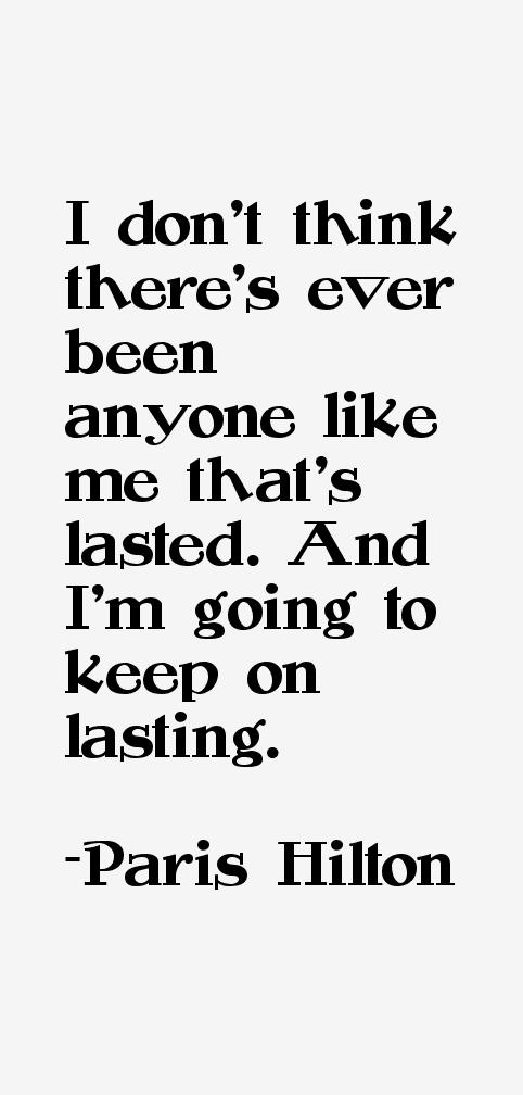 Paris Hilton Quotes