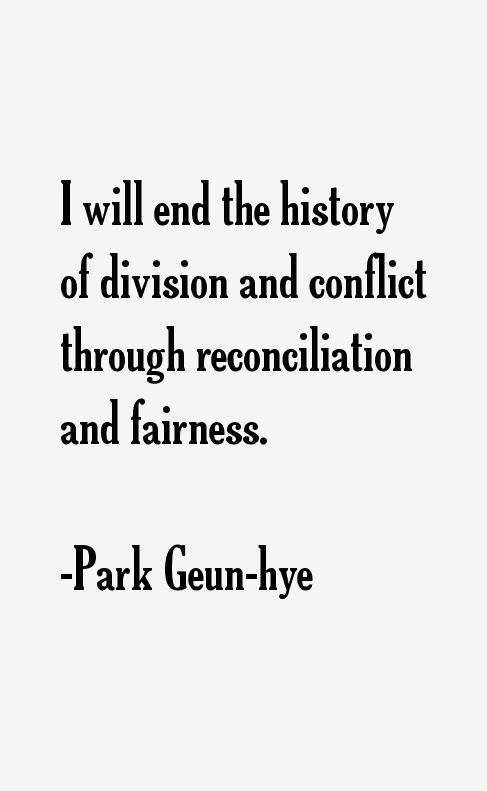 Park Geun-hye Quotes