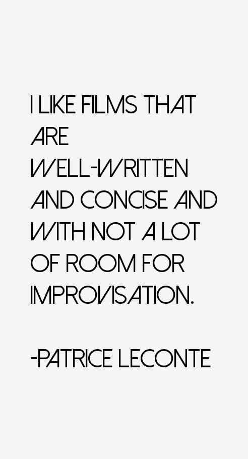 Patrice Leconte Quotes