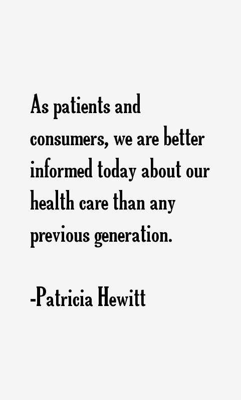 Patricia Hewitt Quotes