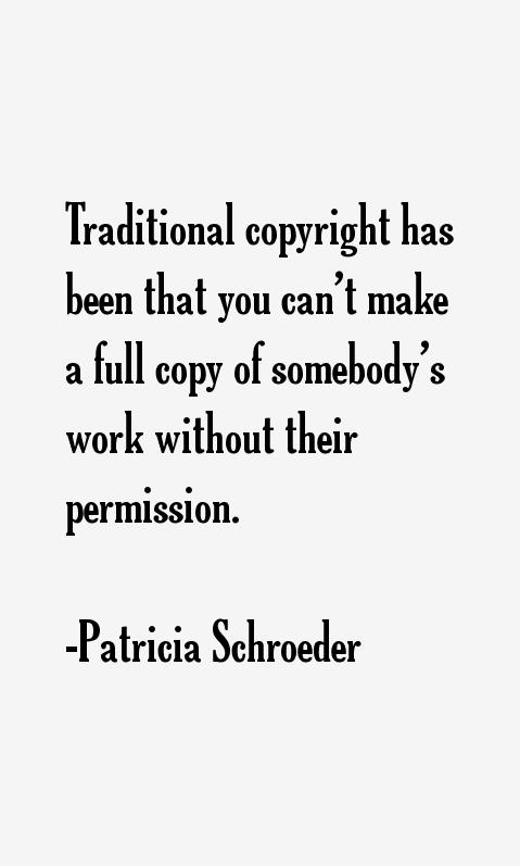Patricia Schroeder Quotes