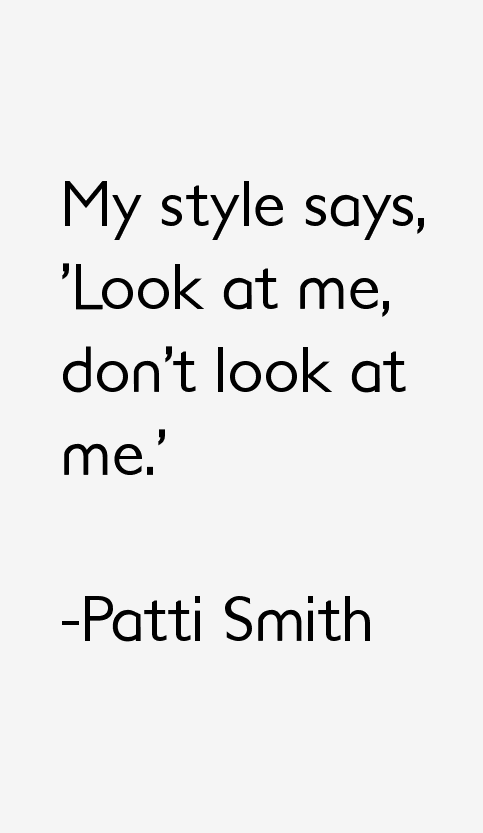 Patti Smith Quotes