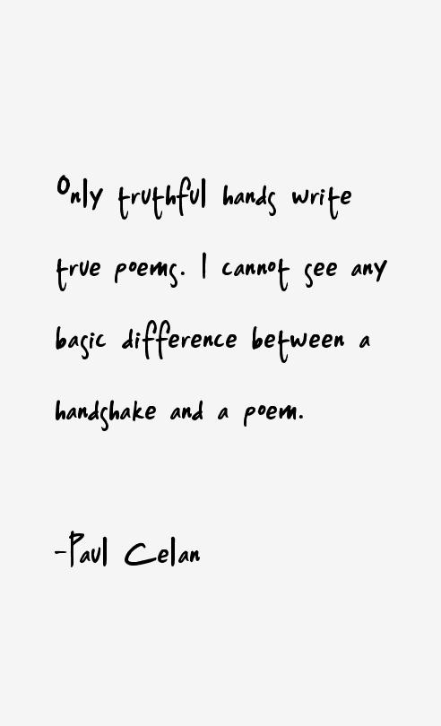 Paul Celan Quotes