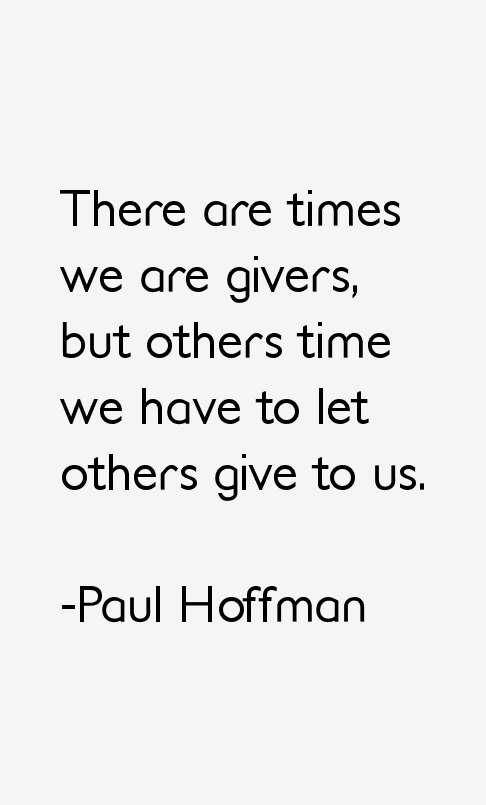 Paul Hoffman Quotes