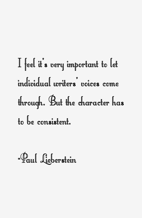 Paul Lieberstein Quotes