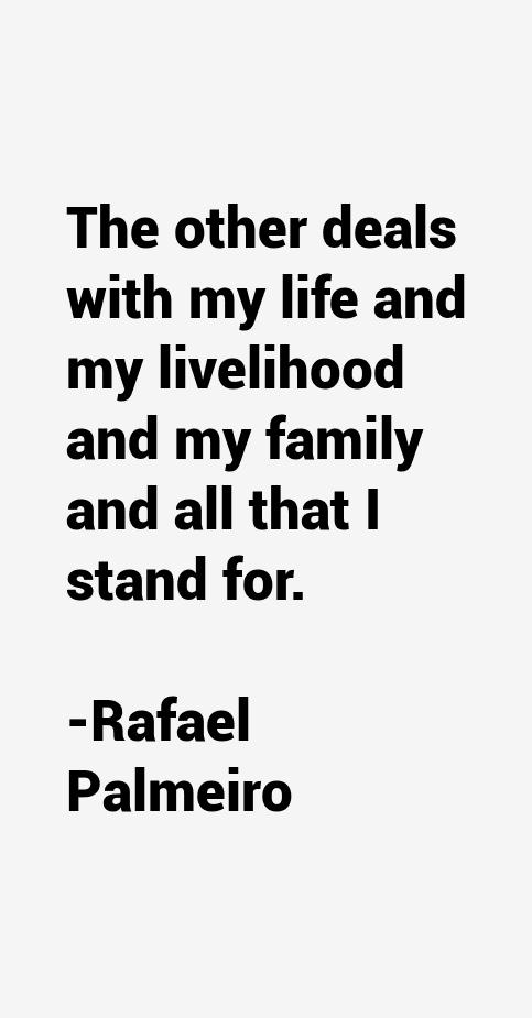 Rafael Palmeiro Quotes