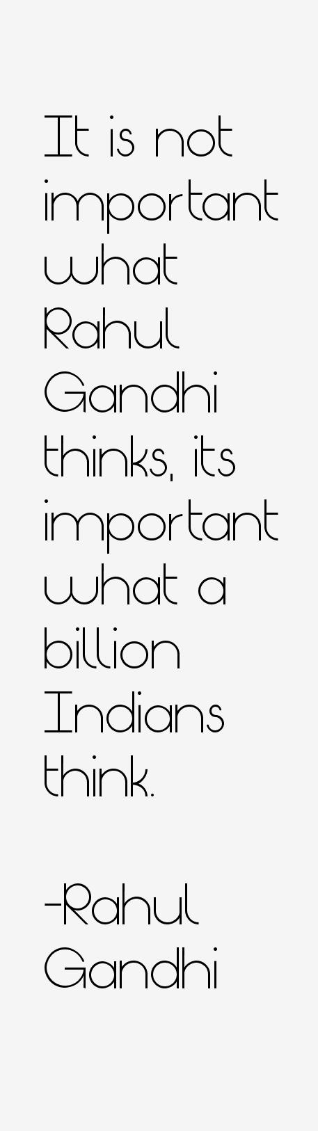 Rahul Gandhi Quotes