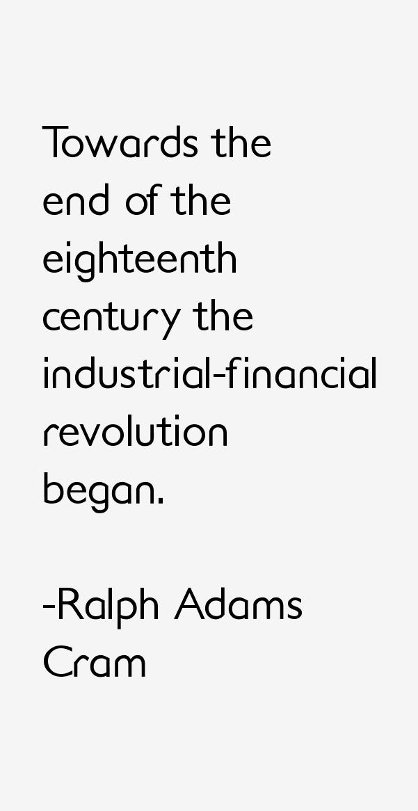 Ralph Adams Cram Quotes
