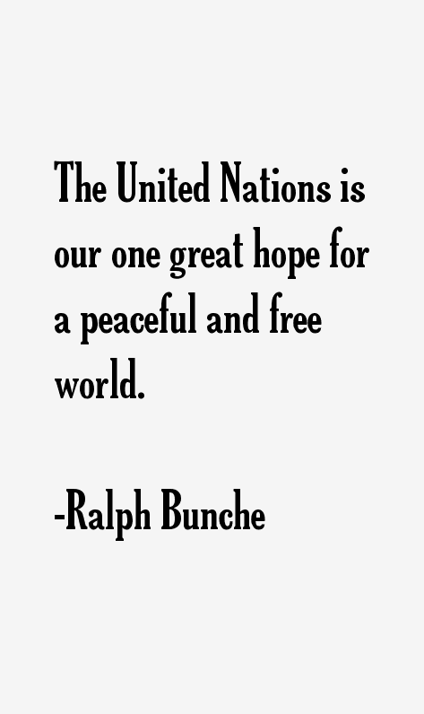 Ralph Bunche Quotes