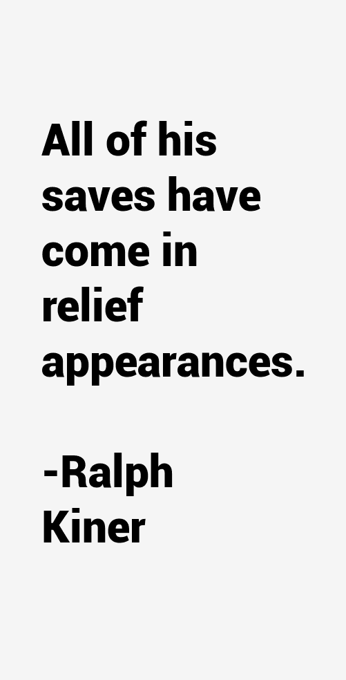 Ralph Kiner Quotes