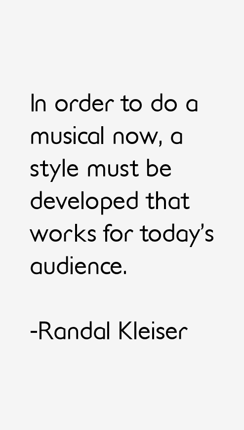 Randal Kleiser Quotes
