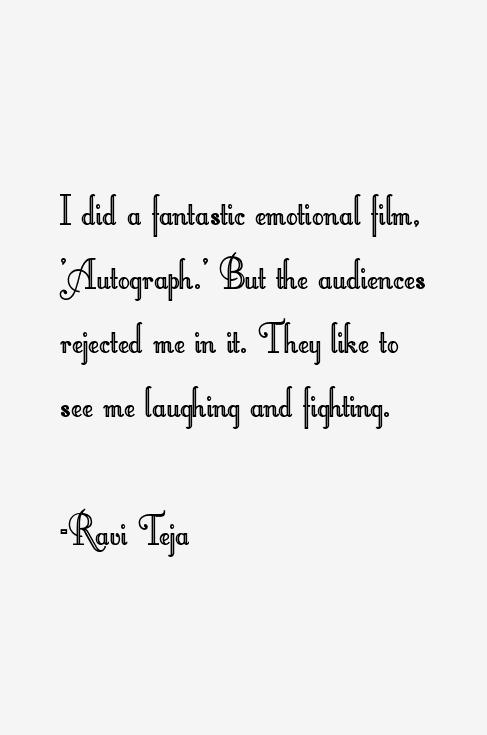 Ravi Teja Quotes