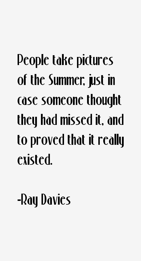 Ray Davies Quotes